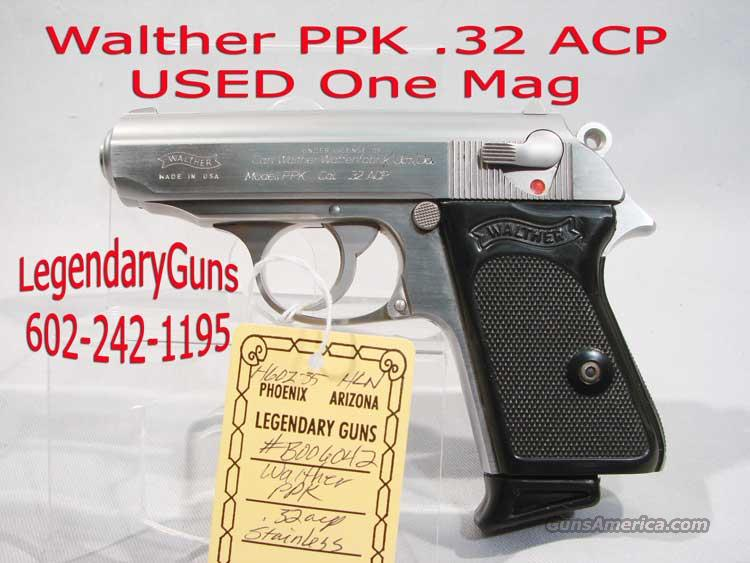 Walther PPK .32 acp imported by Interarms  Guns > Pistols > Walther Pistols > Post WWII > PP Series