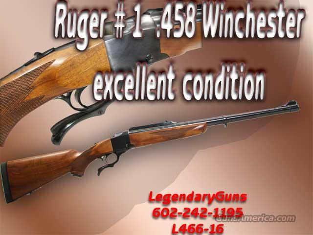 Ruger Number 1 .458 Winchester  Guns > Rifles > Ruger Rifles > #1 Type