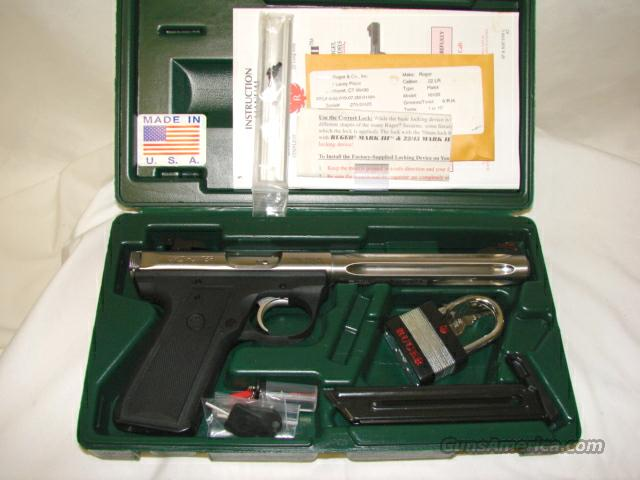 Ruger MK III 22/45 Hunter Stainless Steel   Guns > Pistols > Ruger Semi-Auto Pistols > Mark I & II Family