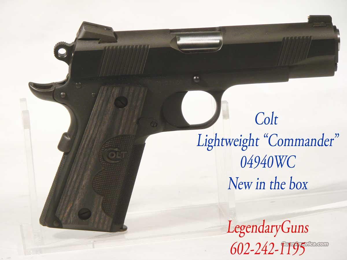 Colt LW Black Commander  Checkerd Grip   Guns > Pistols > Colt Automatic Pistols (1911 & Var)