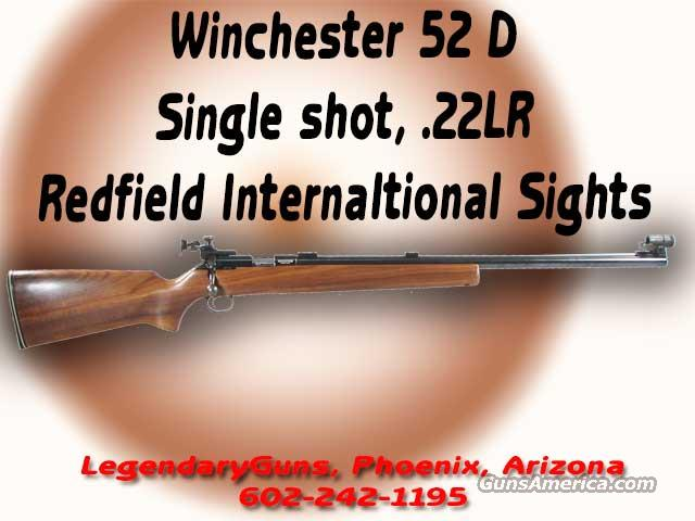 Winchester  M-52 D .22LR   Guns > Rifles > Winchester Rifles - Modern Bolt/Auto/Single > Other Bolt Action