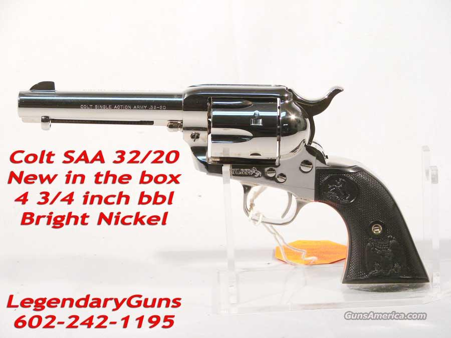 Colt SAA 3rd Gen 4 3/4 32/30 Nickel  Guns > Pistols > Colt Single Action Revolvers - 3rd Gen.