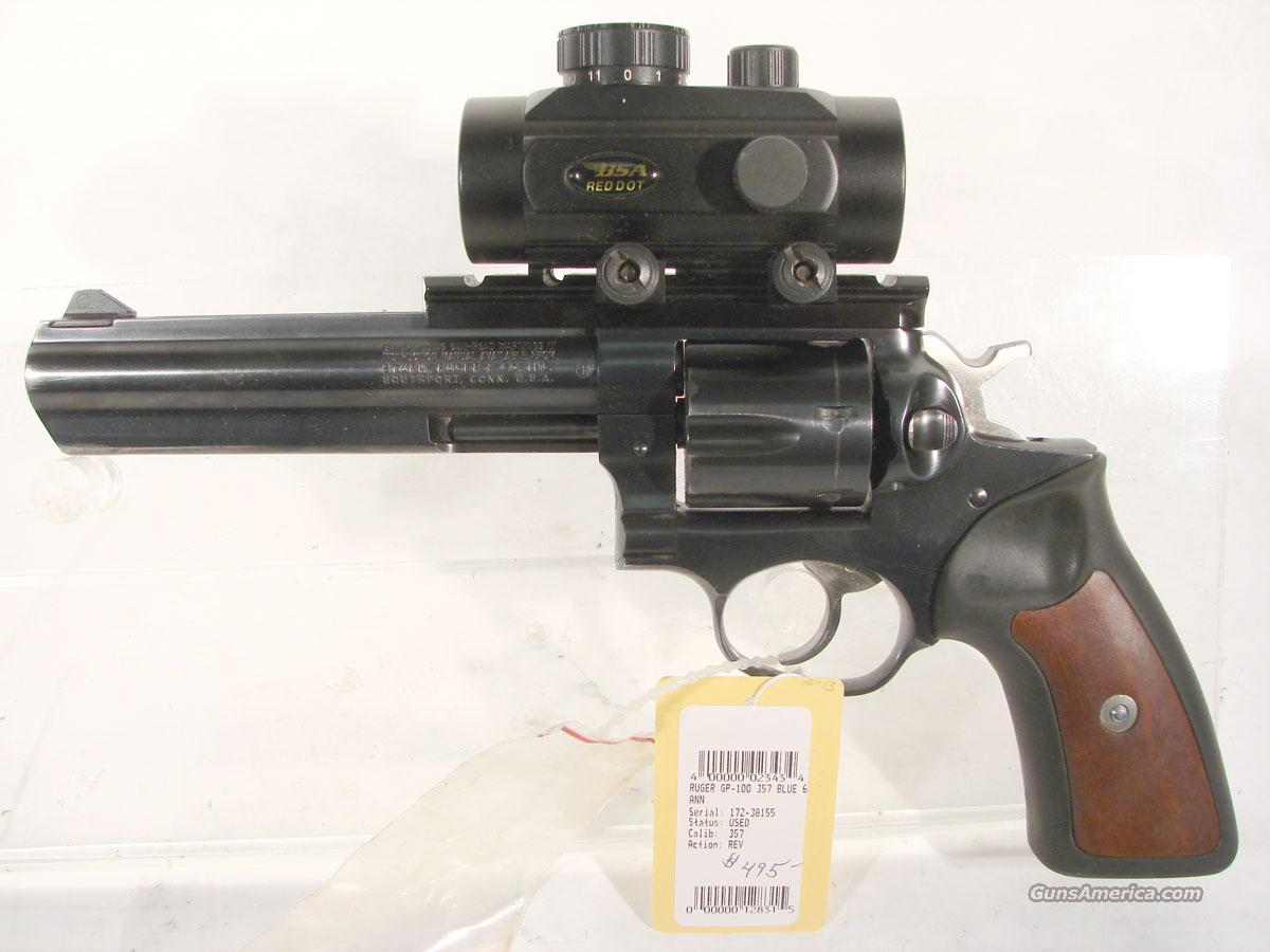 Ruger GP 100 6 inch blue,  30 Mill red dot,  Guns > Pistols > Ruger Double Action Revolver > Security Six Type