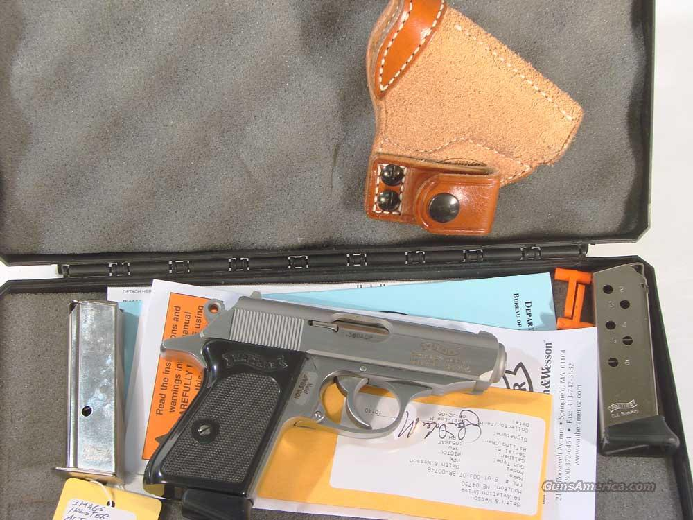 Walther PPK  Stainless .380 with Holster  Guns > Pistols > Walther Pistols > Post WWII > PP Series