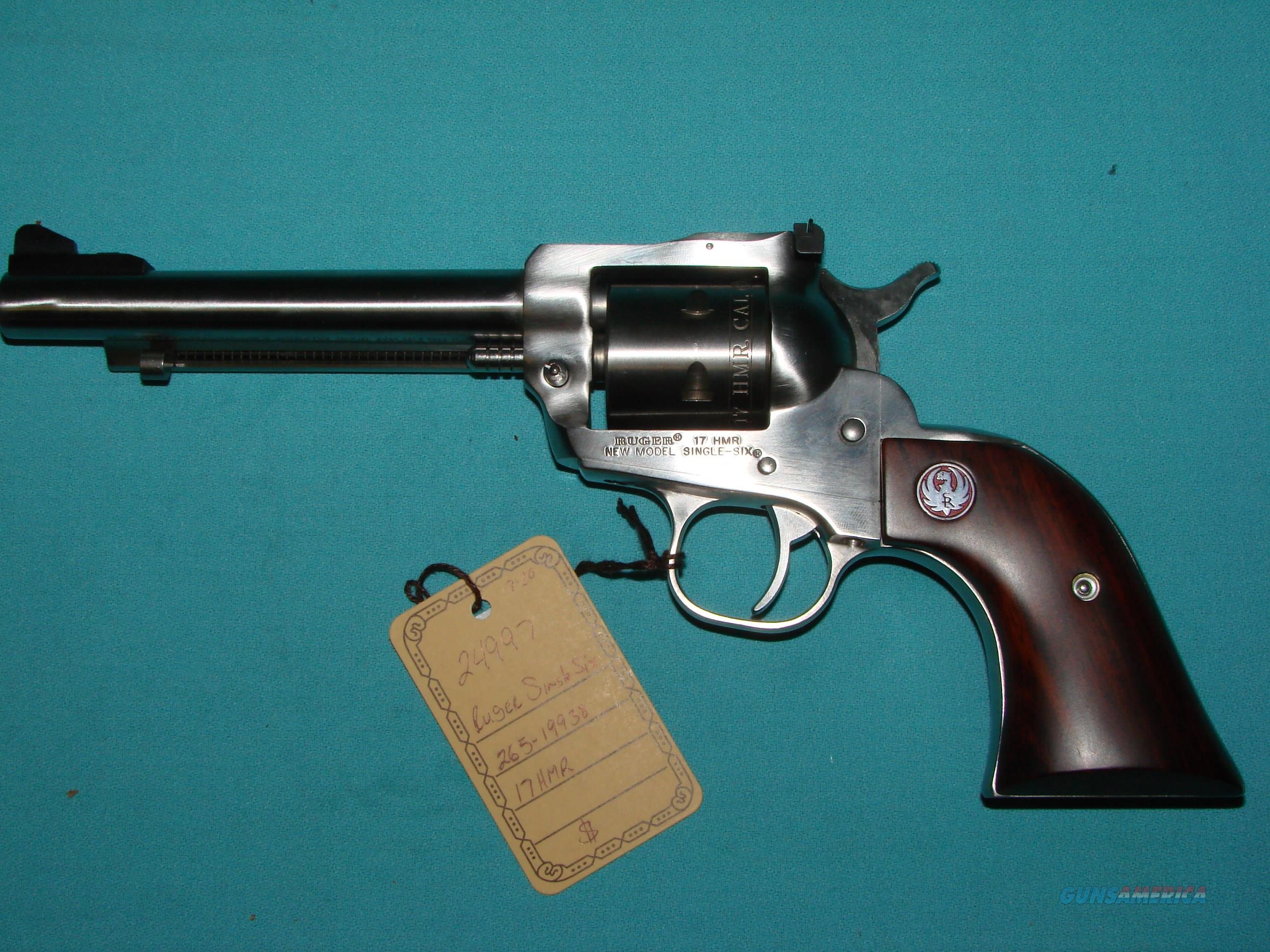 Ruger Single Six 17HMR  Guns > Pistols > Ruger Single Action Revolvers > Single Six Type