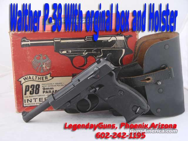 Walther P-38  with orginal box and Holster  Guns > Pistols > Walther Pistols > Post WWII > Large Frame Autos