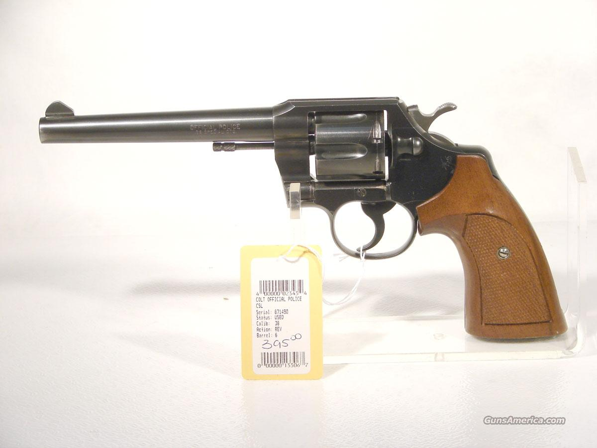 "Colt ""Official Police"" 6 inch blue .38 SPL.  Guns > Pistols > Colt Double Action Revolvers- Modern"