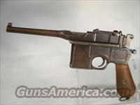 Mauser Model 96 7.62 Mauser With Holster  Guns > Pistols > Mauser Pistols