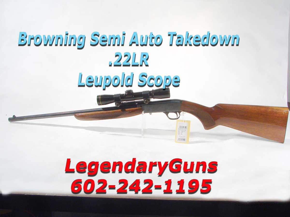 Browning .22 LR Semi Auto, Takedown  Guns > Rifles > Browning Rifles > Semi Auto > Hunting