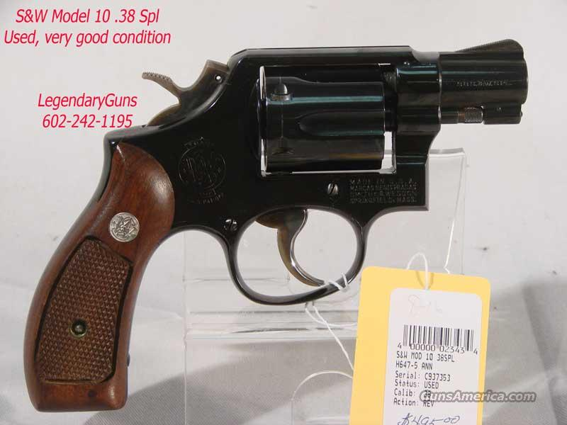 S&W Model 10 .38 Spl, Blue 2 inch bbl  Guns > Pistols > Smith & Wesson Revolvers > Full Frame Revolver