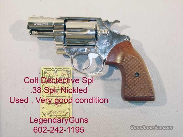 Colt Detective Spl Nickle .38 Spl Used  Very good condition  Guns > Pistols > Colt Double Action Revolvers- Pre-1945