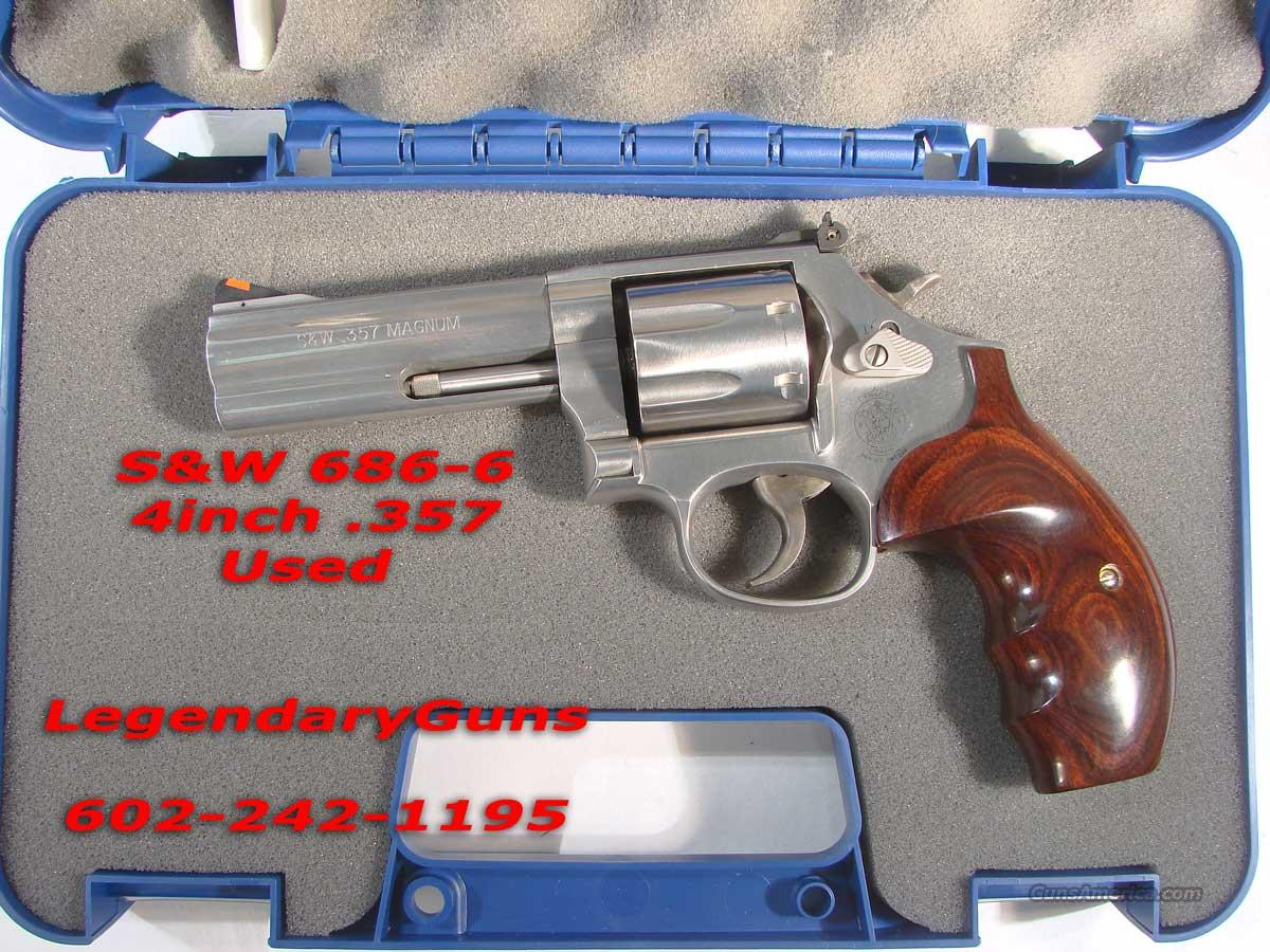 S&W Model 686-6 4inch Stainless .357  Guns > Pistols > Smith & Wesson Revolvers > Full Frame Revolver