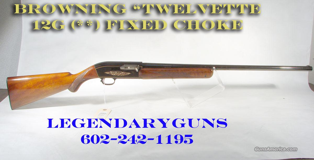 "Browning ""Twelvette""  As New,  Guns > Shotguns > Browning Shotguns > Autoloaders > Hunting"