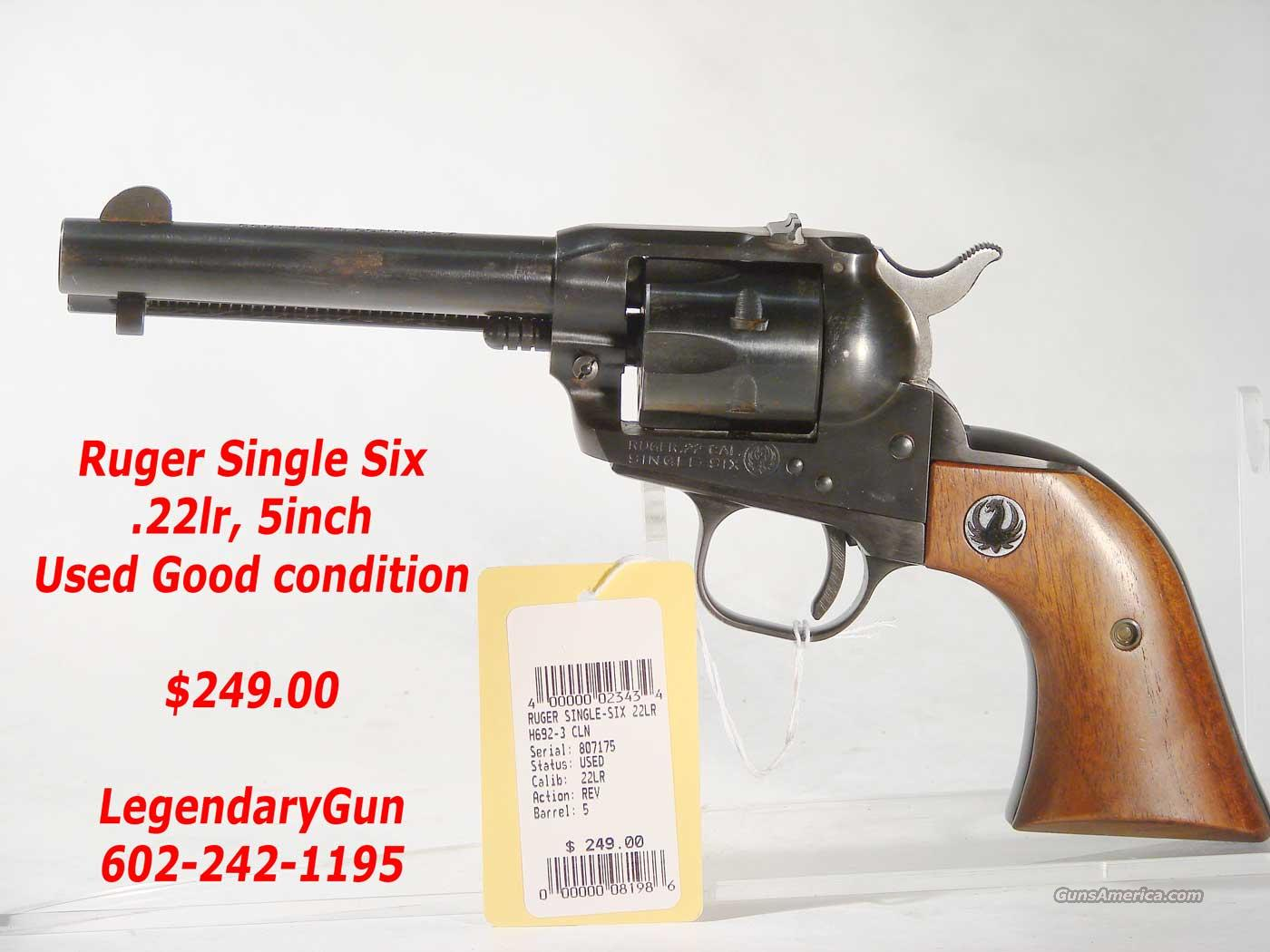 Ruger Single Six .22LR  Blue Flat top  Guns > Pistols > Ruger Single Action Revolvers > Single Six Type