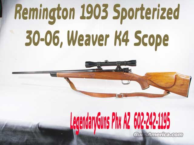 Remington 1903 Sporterized  Guns > Rifles > Remington Rifles - Modern > Non-Model 700