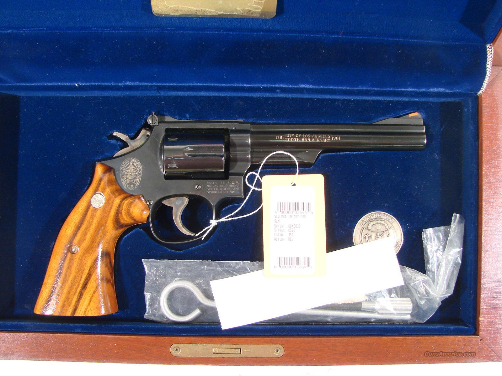 "S&W Model 19 ""Los Angeles Police"" 200 years  Guns > Pistols > Smith & Wesson Revolvers > Full Frame Revolver"