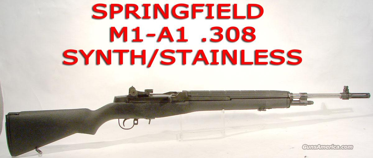 Springfield M1-A1  Synth Stock, Stainless Steel  Guns > Rifles > Springfield Armory Rifles > M1A/M14