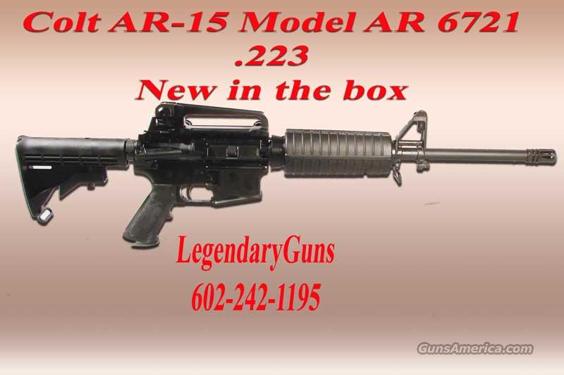 Colt AR6721  Carbine  .223 LWT BBL  Guns > Rifles > Colt Military/Tactical Rifles