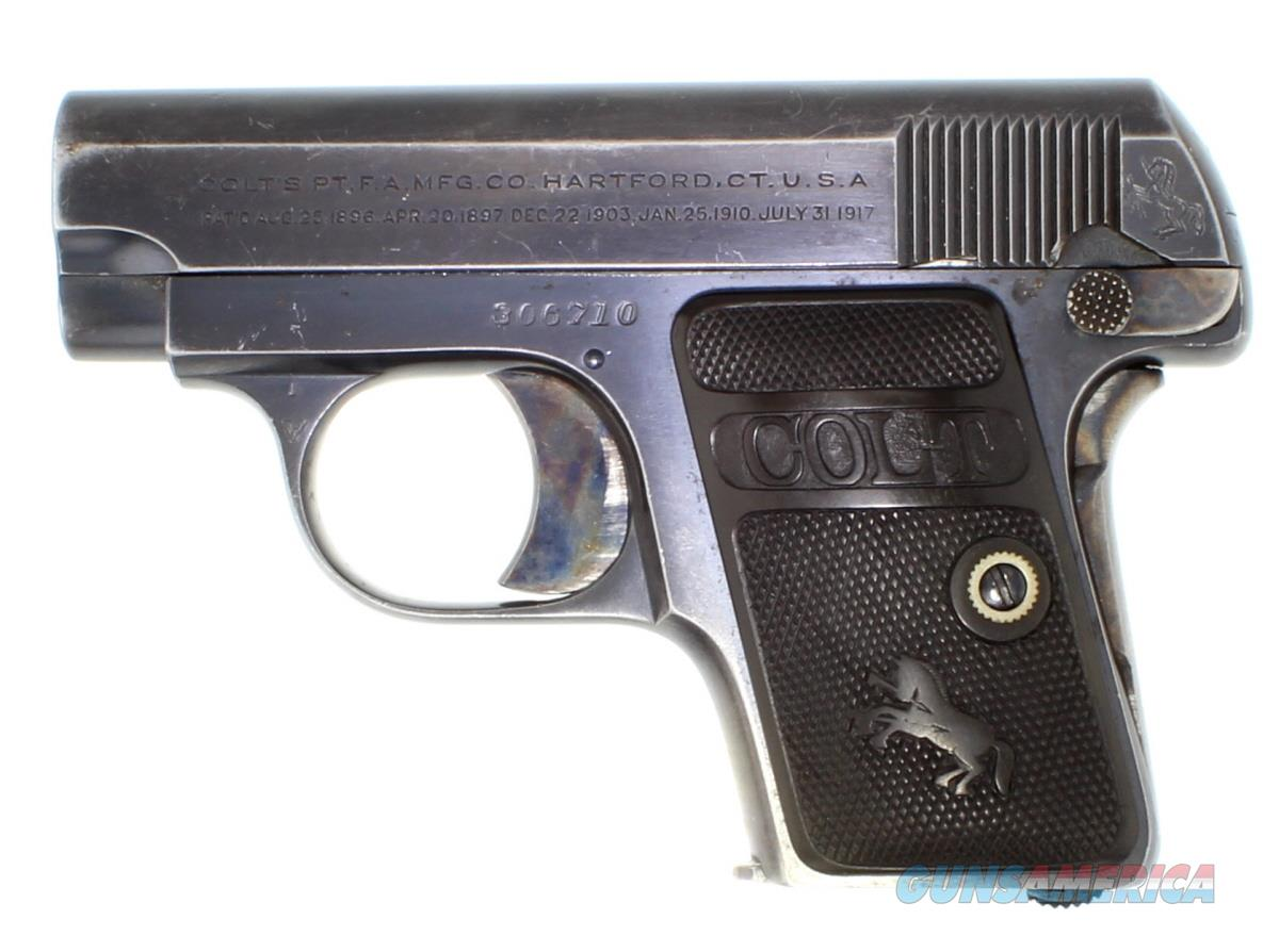 COLT 1908 25ACP MADE IN 1922  Guns > Pistols > Colt Automatic Pistols (.25, .32, & .380 cal)