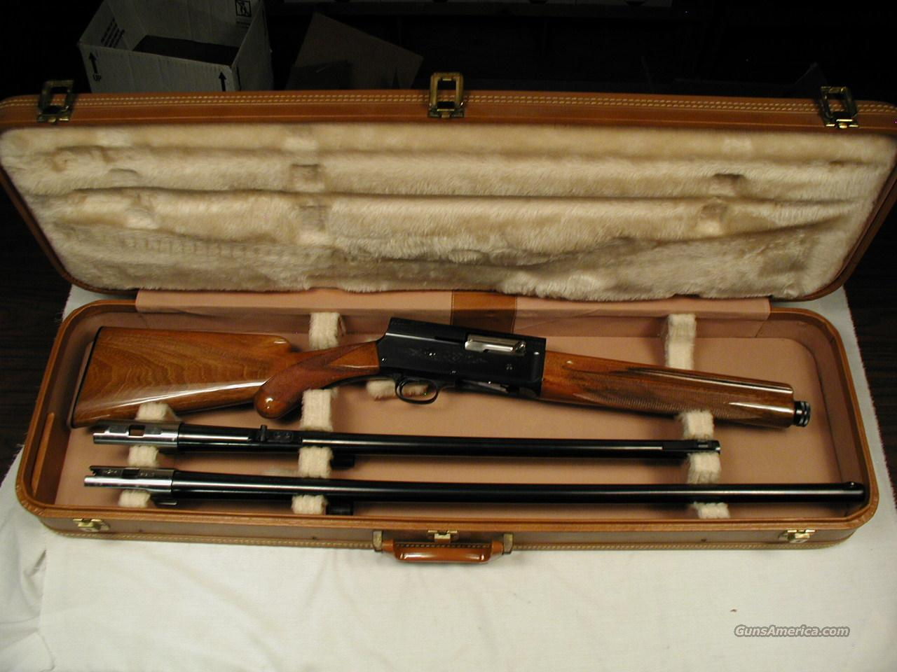1963 MADE A5 BELGIUM BROWNING CASED COMBO WITH ROUND KNOB  Guns > Shotguns > Browning Shotguns > Autoloaders > Hunting