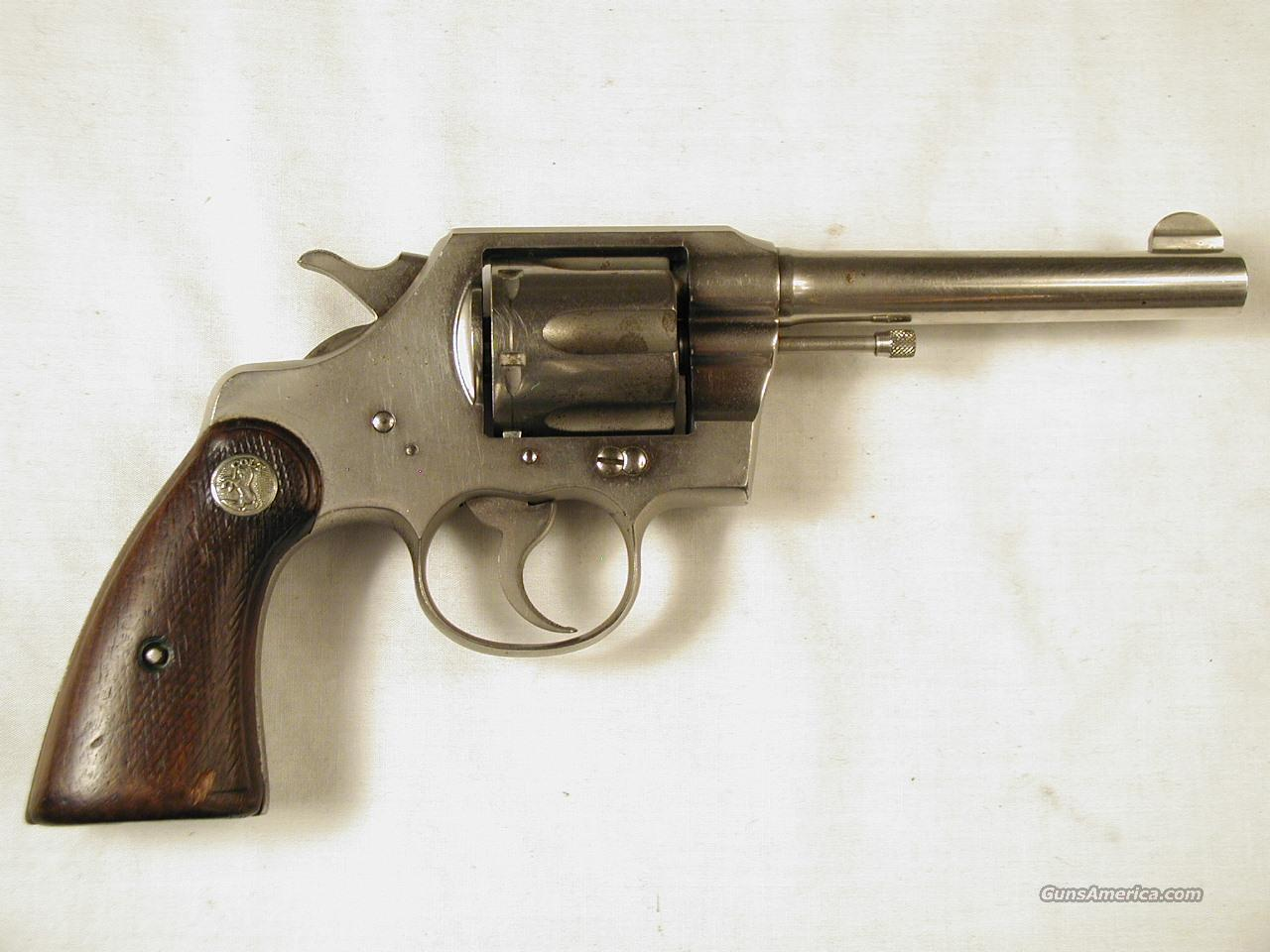 OFFICIAL POLICE  Guns > Pistols > Colt Double Action Revolvers- Pre-1945