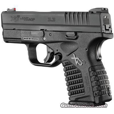 XDS 45ACP 3.3 Inch Barrel  Guns > Pistols > Springfield Armory Pistols > XD-S