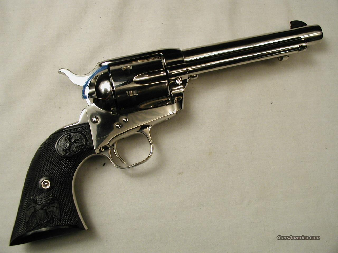 COLT NICKEL SAA 357 MAGNUM   Guns > Pistols > Colt Single Action Revolvers - 3rd Gen.