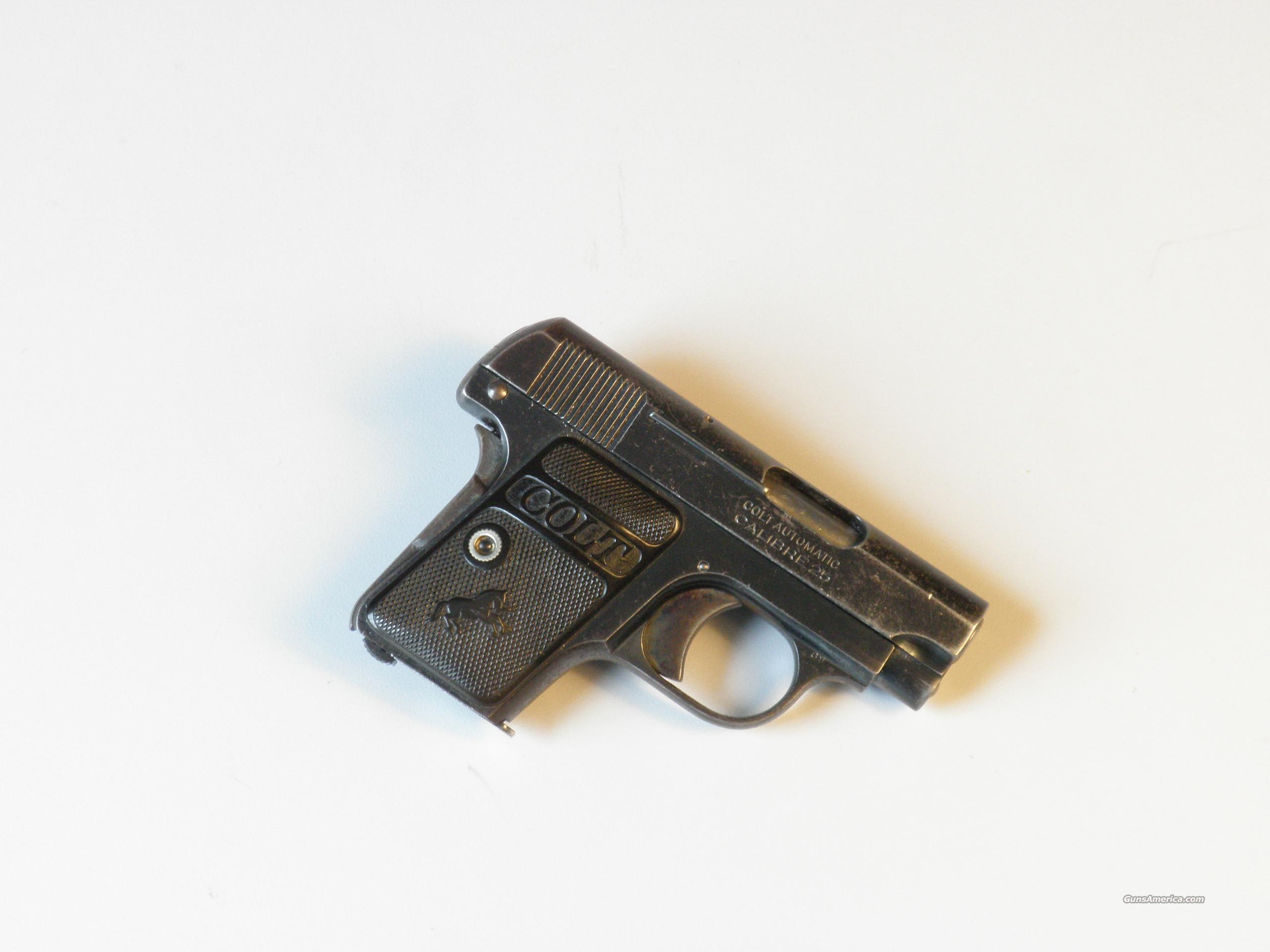 COLT 1908 25acp made in 1924  Guns > Pistols > Colt Automatic Pistols (.25, .32, & .380 cal)