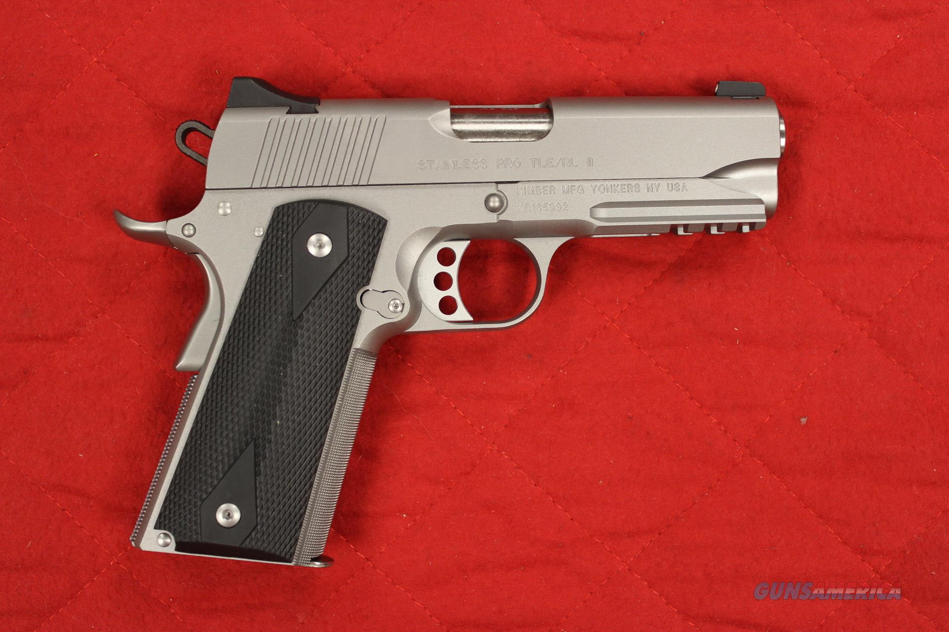 Kimber Stainless Pro TLE/RL inventory reduction sale ONLY ONE available at this price  Guns > Pistols > Kimber of America Pistols