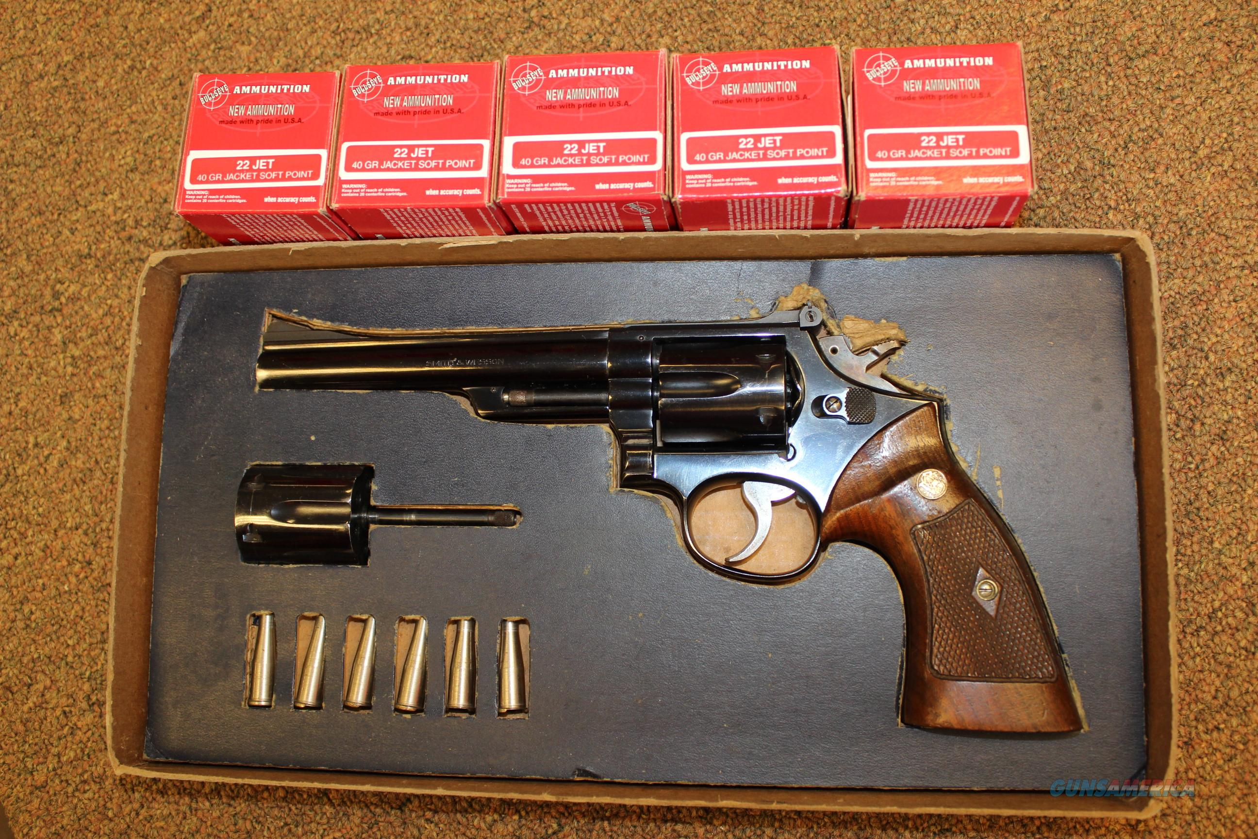 Four Screw Model 53 with extras!   .22lr and .22Jet  Guns > Pistols > Smith & Wesson Revolvers > Full Frame Revolver