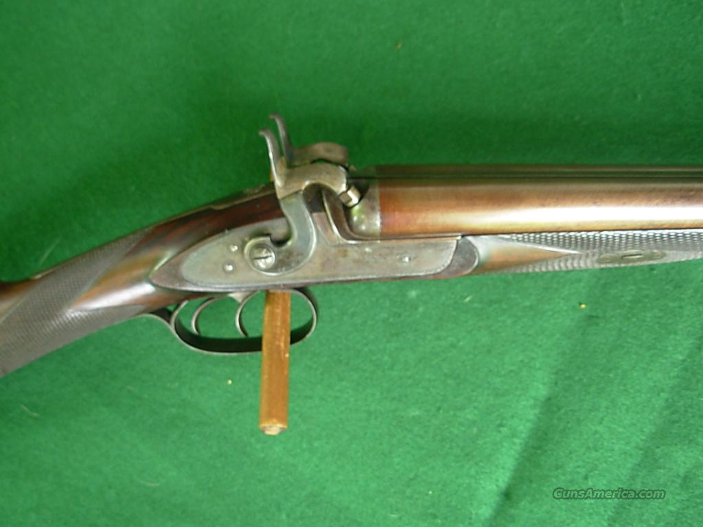MORTIMER SXS PERCUSSION GUN  Guns > Shotguns > Muzzleloading Pre-1899 Shotguns