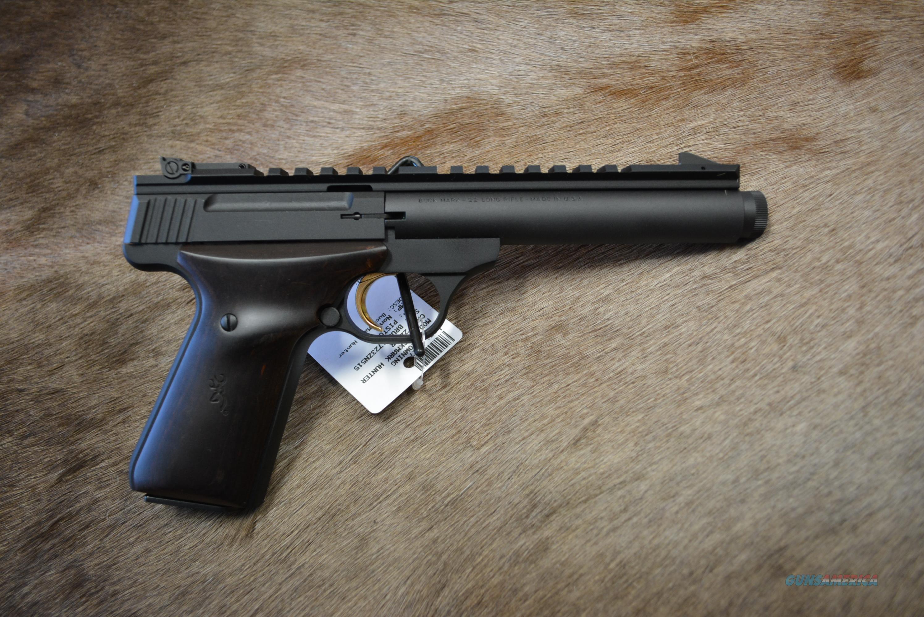 Browning Buckmark Hunter W/Rosewood Grips!  Guns > Pistols > Browning Pistols > Buckmark