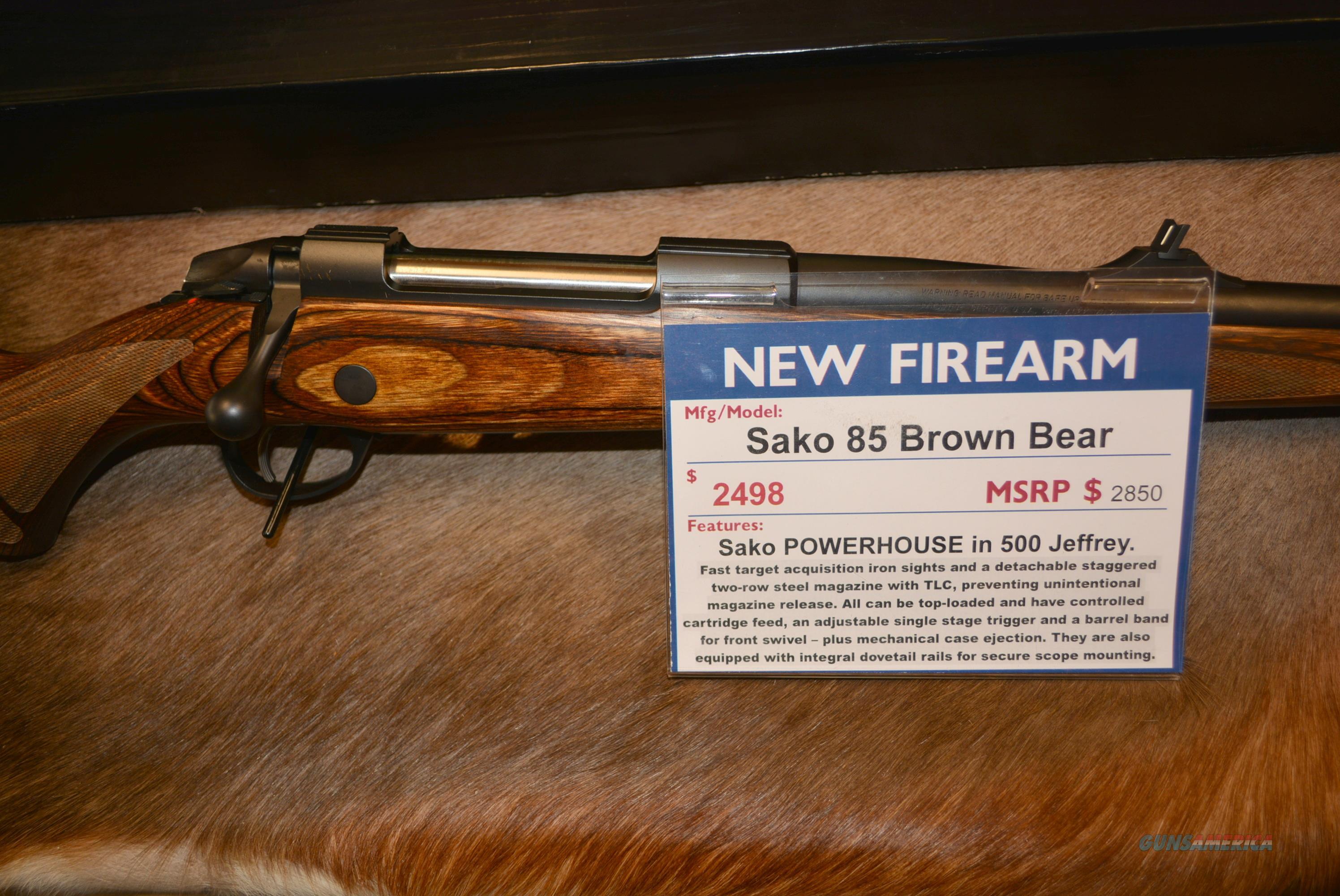 Sako 85 Brown Bear in 500 Jeffrey  Guns > Rifles > Sako Rifles > M85 Series