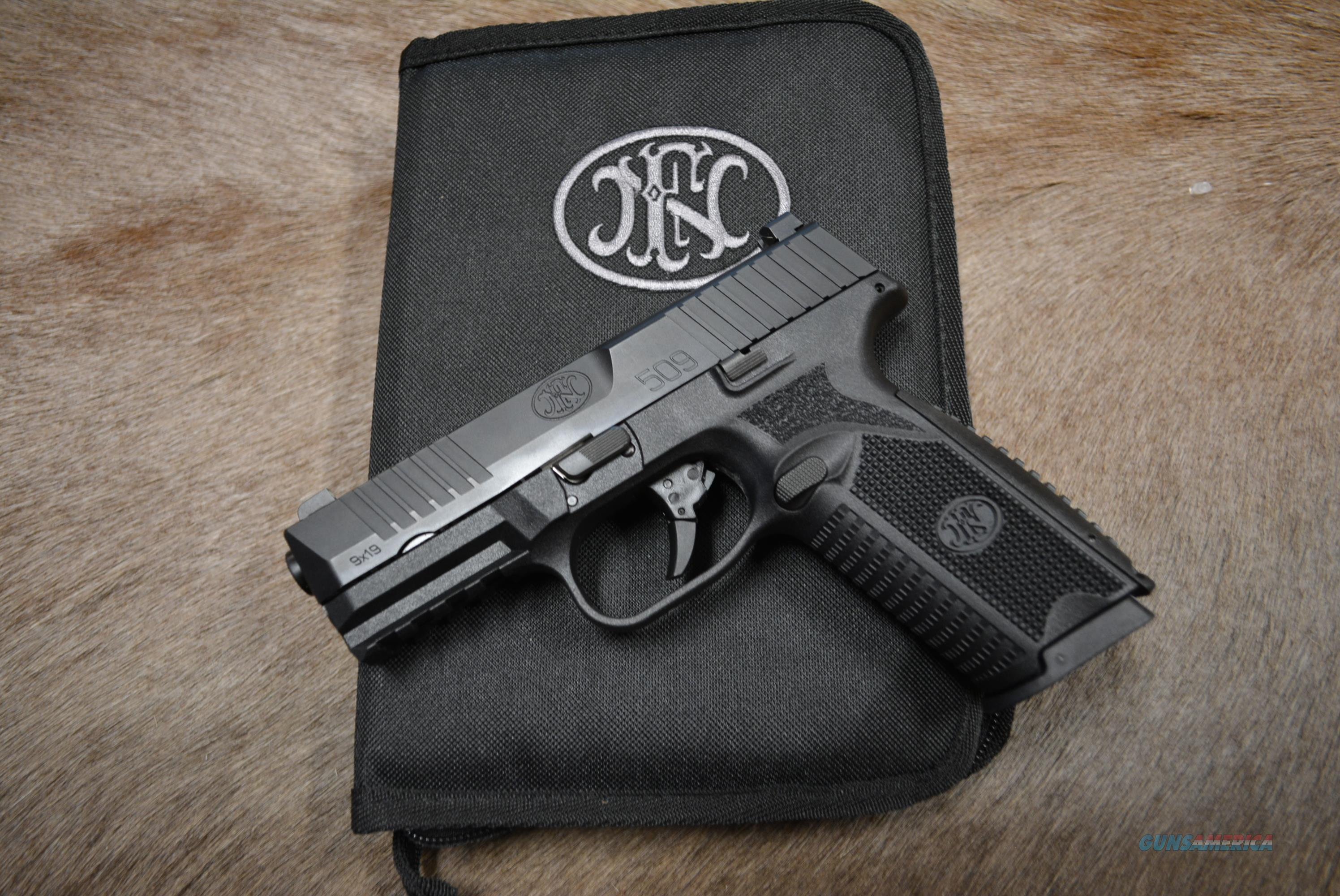 FN 509 - All Black - NEW - FREE Shipping!  Guns > Pistols > FNH - Fabrique Nationale (FN) Pistols > FN 509