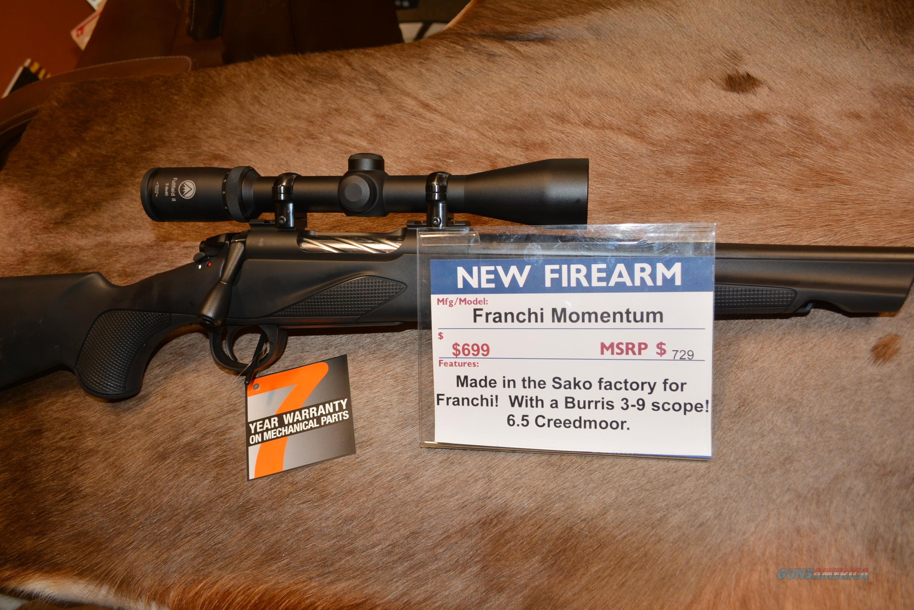 Franchi Momentum 6.5 Creedmoor W/Burris Scope  Guns > Rifles > Franchi Rifles