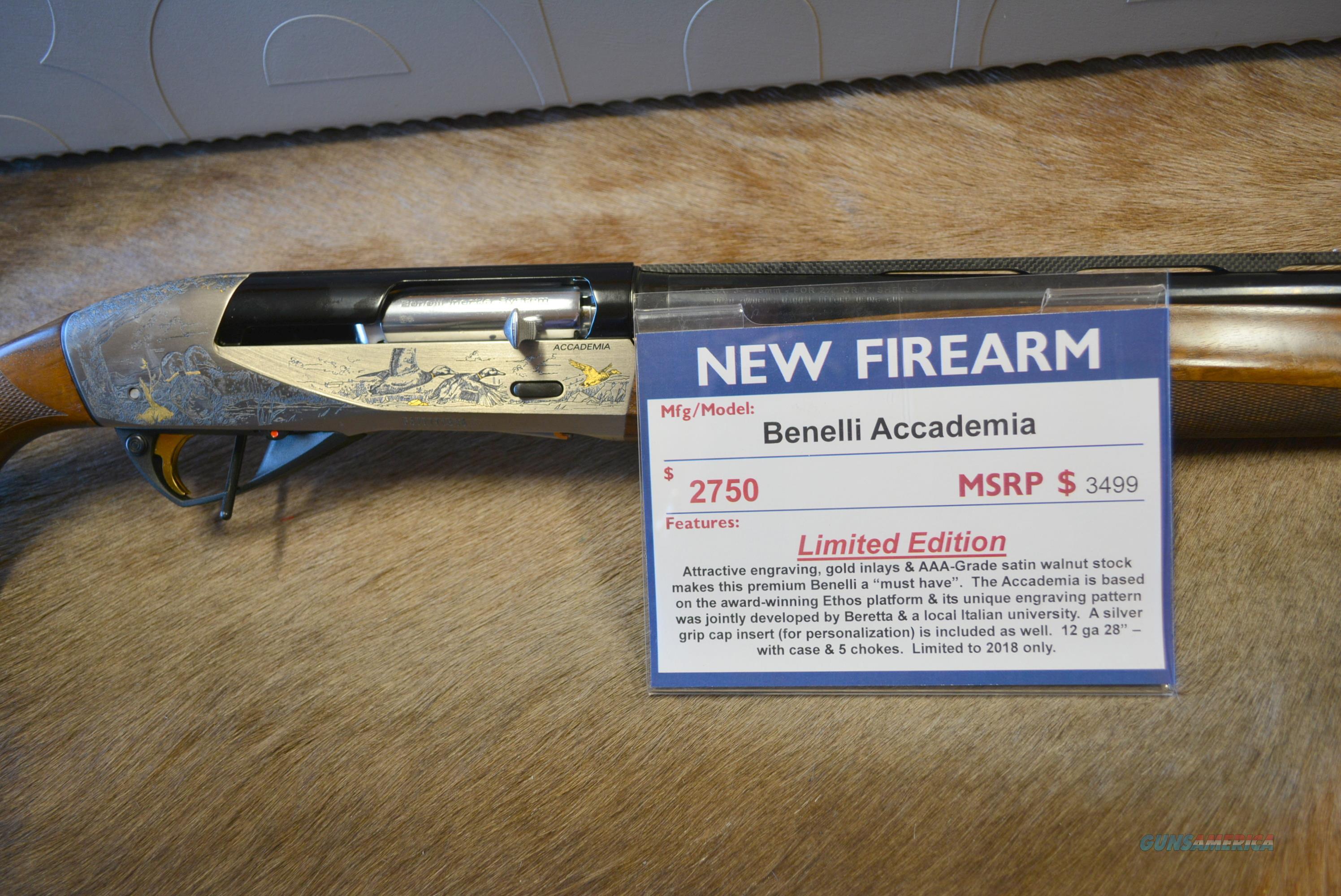Benelli Accademia 12/28 Limited Edition Gun!  Guns > Shotguns > Benelli Shotguns > Sporting