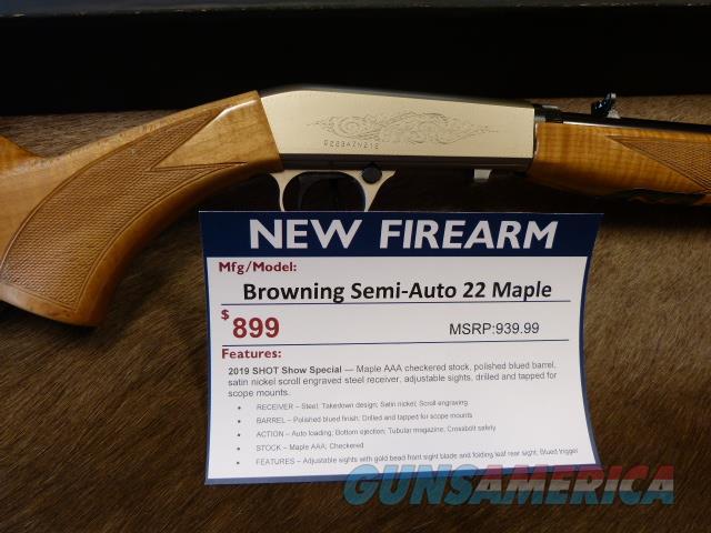 Browning SA-22 Maple 2019 SHOT SHOW Gun  Guns > Rifles > Browning Rifles > Semi Auto > Hunting