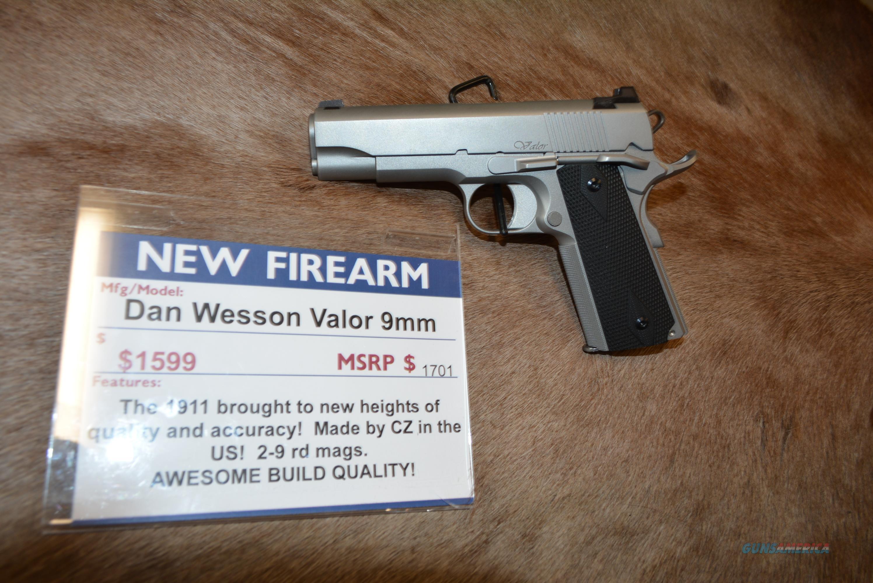 Dan Wesson Valor 9mm NEW  Guns > Pistols > Dan Wesson Pistols/Revolvers > 1911 Style