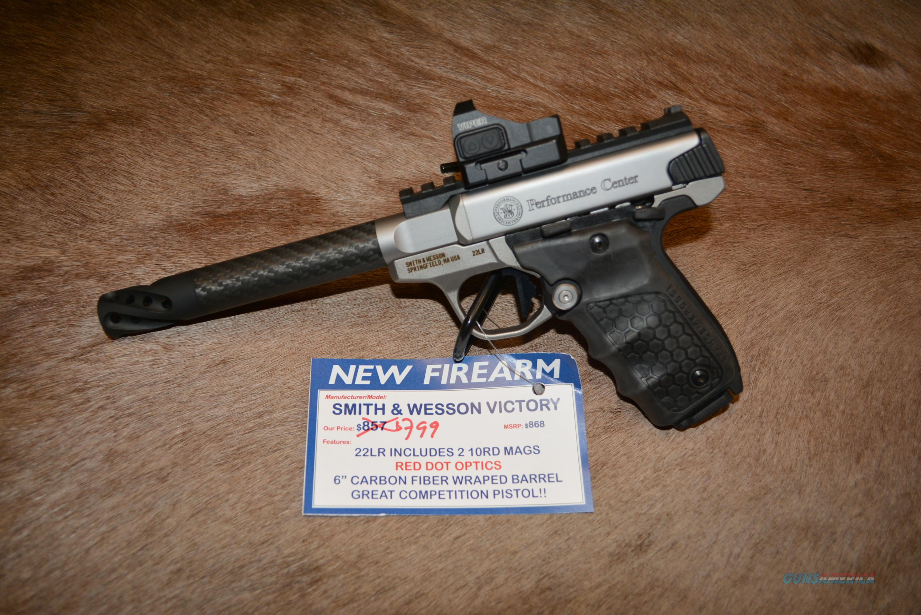 S&W Performance Center 22 Victory W/Carbon Bbl & Red Dot  Guns > Pistols > Smith & Wesson Pistols - Autos > .22 Autos