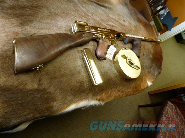 Thompspn 1927A Deluxe GOLD W/ Stick & Drum Mags  Guns > Rifles > Auto Ordnance Rifles