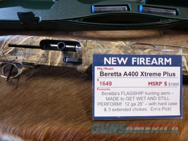 Beretta A400 Xtreme Plus Max 5 Camo 12/26 NEW  Guns > Shotguns > Beretta Shotguns > Autoloaders > Hunting