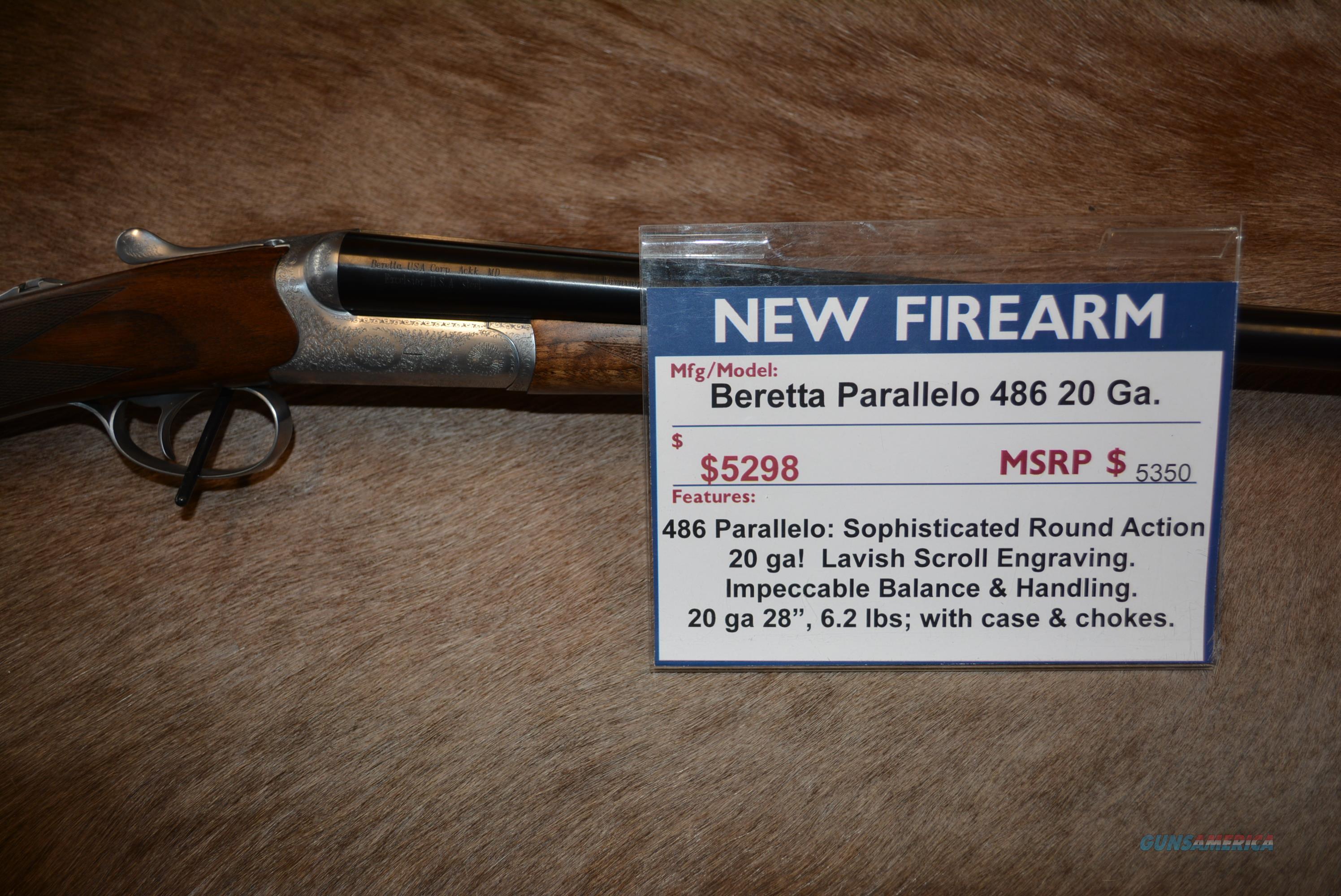 Beretta Parallelo 486 20 Ga NEW  Guns > Shotguns > Beretta Shotguns > SxS