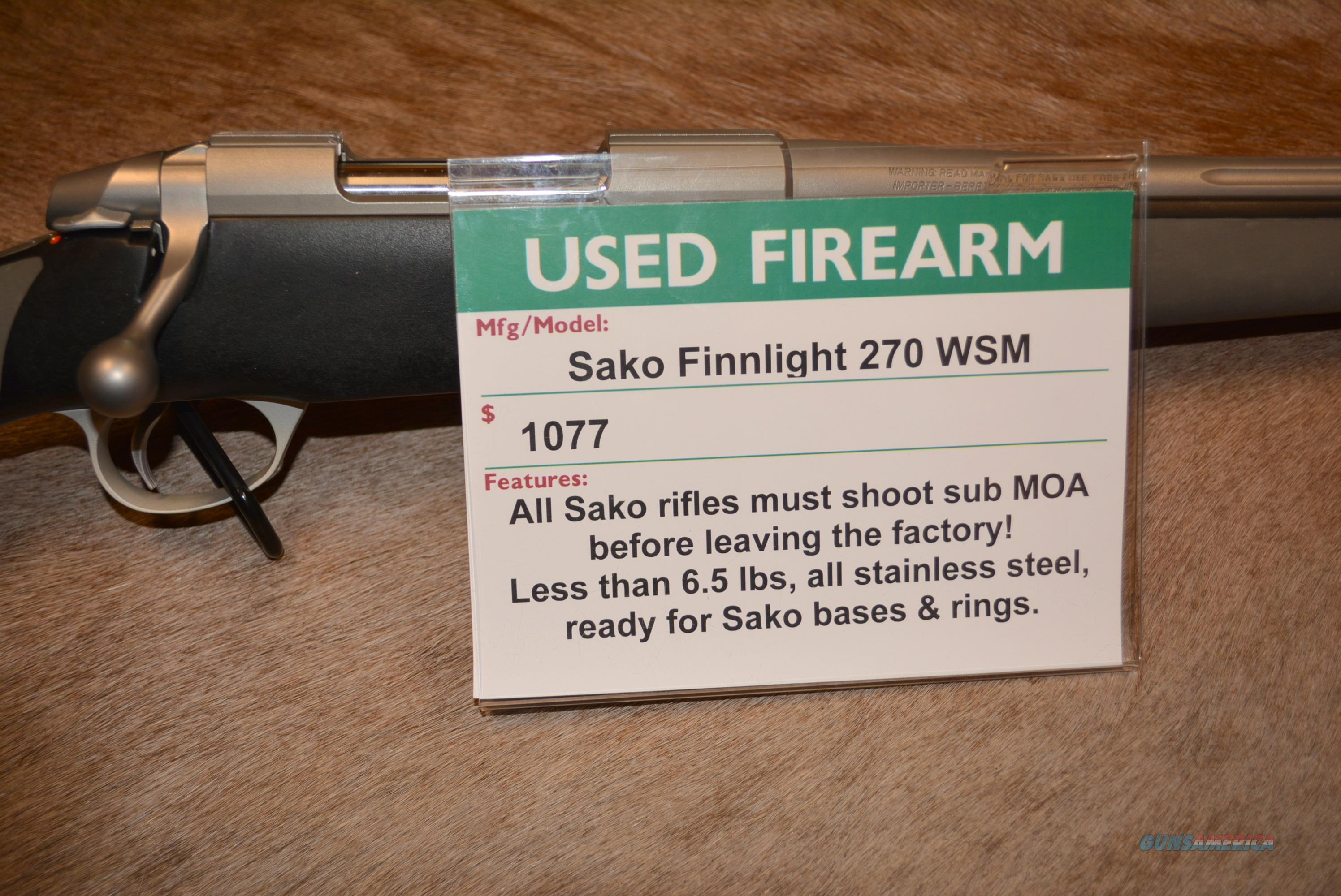 Sako Finnlight 270 WSM Used!  Guns > Rifles > Sako Rifles > M85 Series