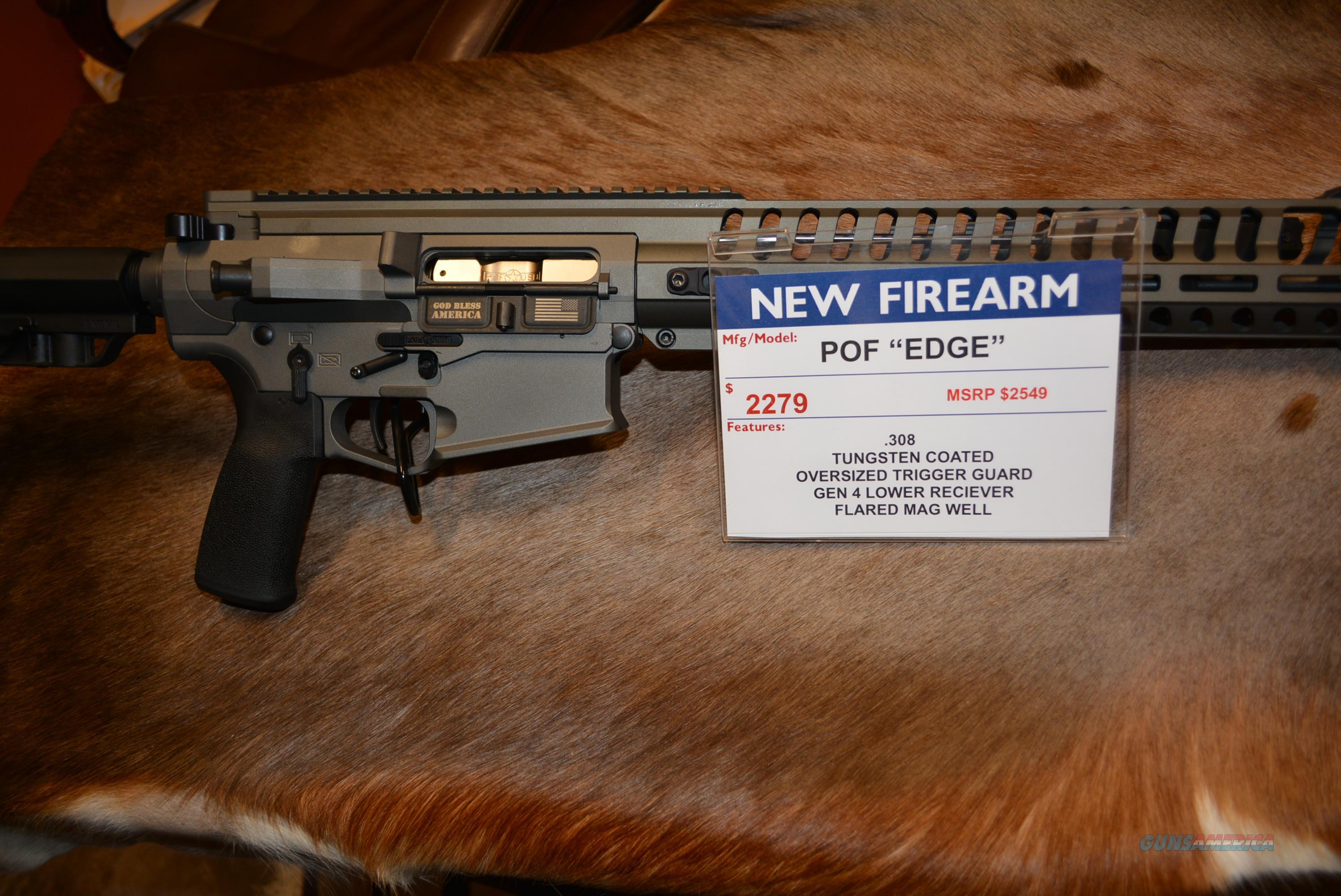 POF Edge 308 Tungsten Grey Finish  Guns > Rifles > Patriot Ordnance Factory - POF USA > Complete Rifles