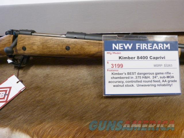 Kimber 8400 Caprivi 375 NEW  Guns > Rifles > Kimber of America Rifles