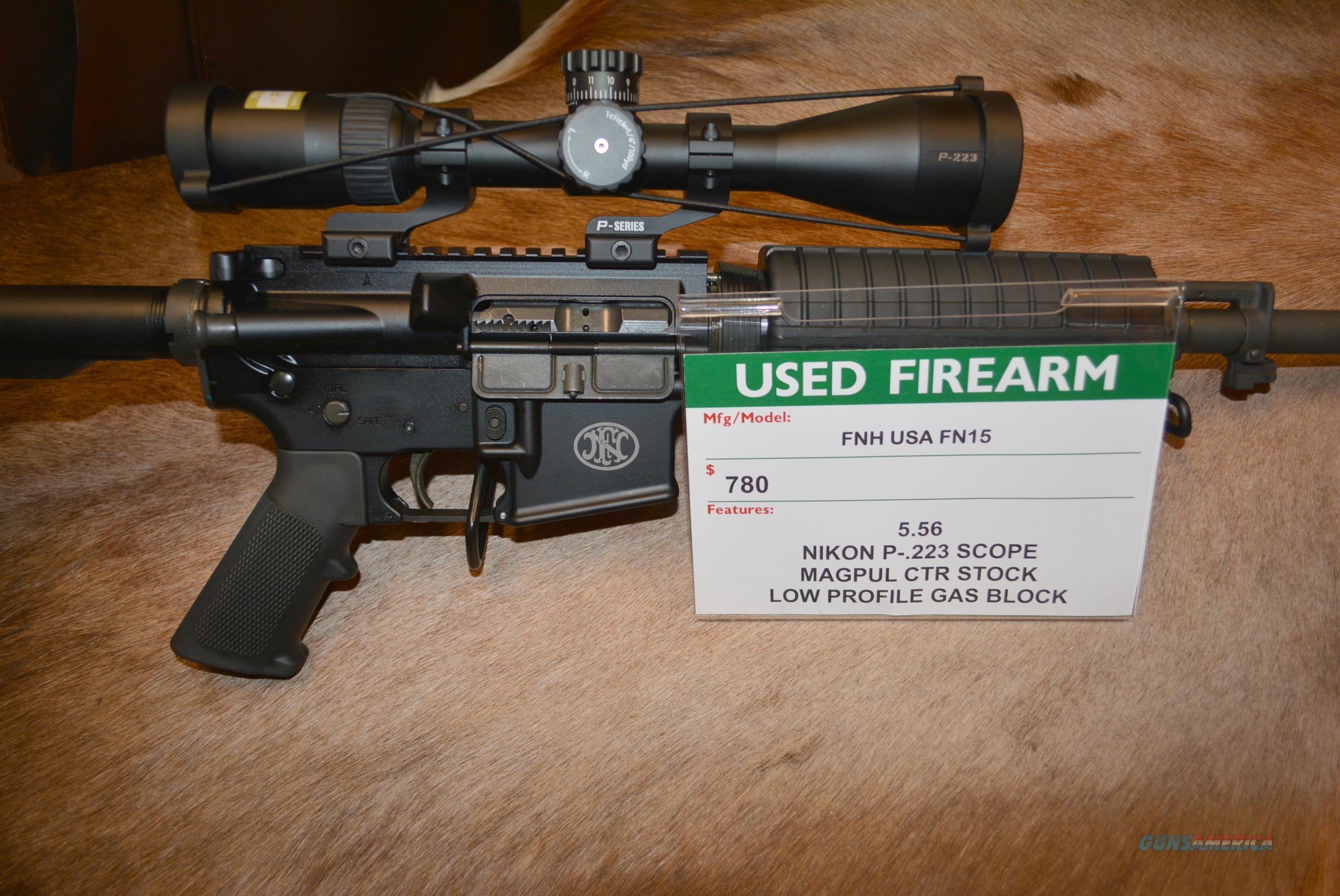 FN FN15 W/Nikon P223 Scope ALL LIKE NEW  Guns > Rifles > FNH - Fabrique Nationale (FN) Rifles > Semi-auto > FN 15