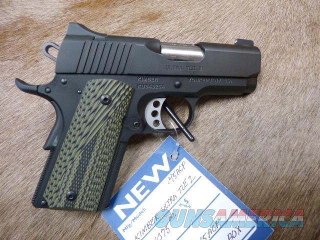 Kimber Ultra TLE II 45 W/Night Sights NEW  Guns > Pistols > Kimber of America Pistols > 1911