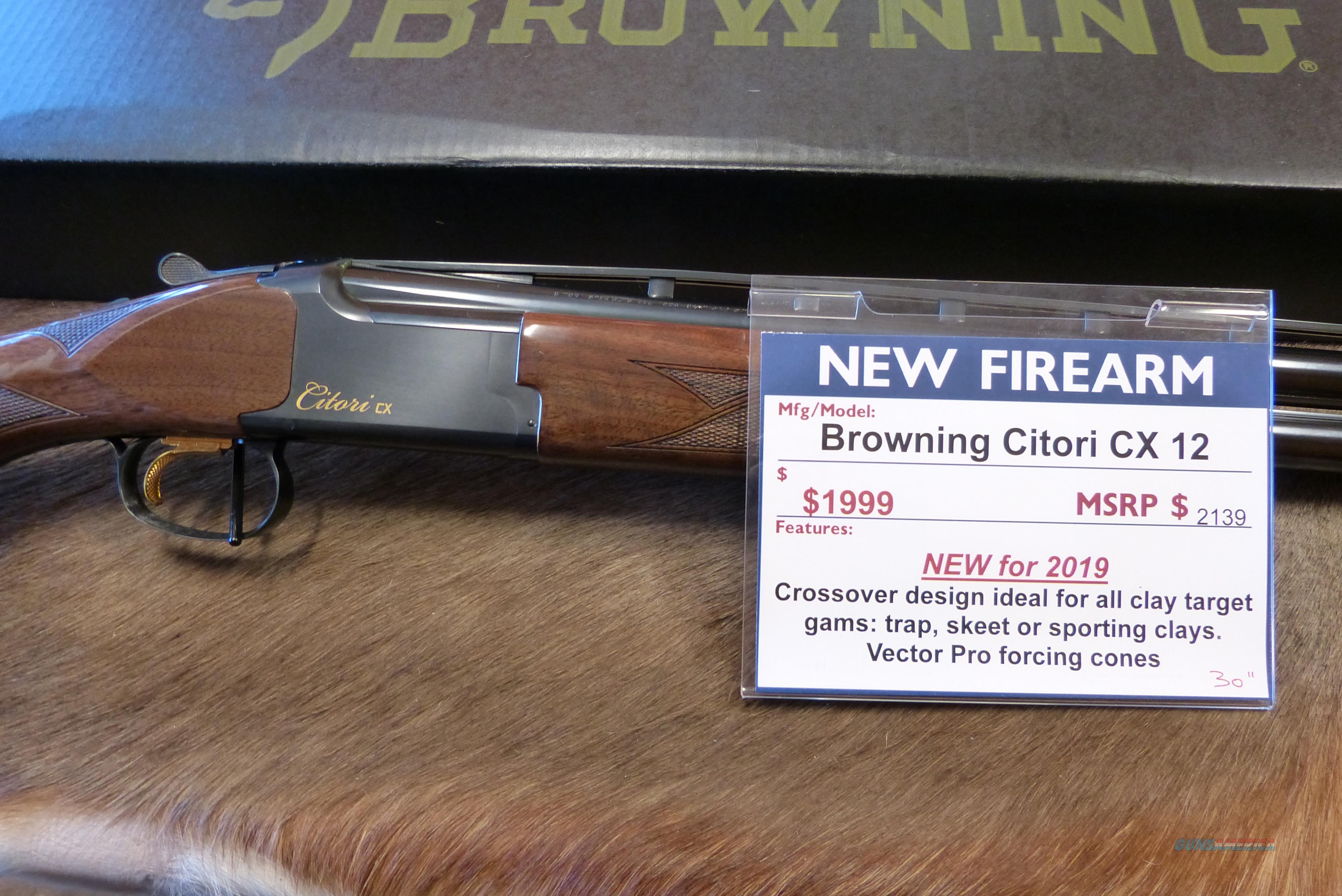 """Browning Citori CX 12 ga 30"""" NEW  Guns > Shotguns > Browning Shotguns > Over Unders > Citori > Trap/Skeet"""