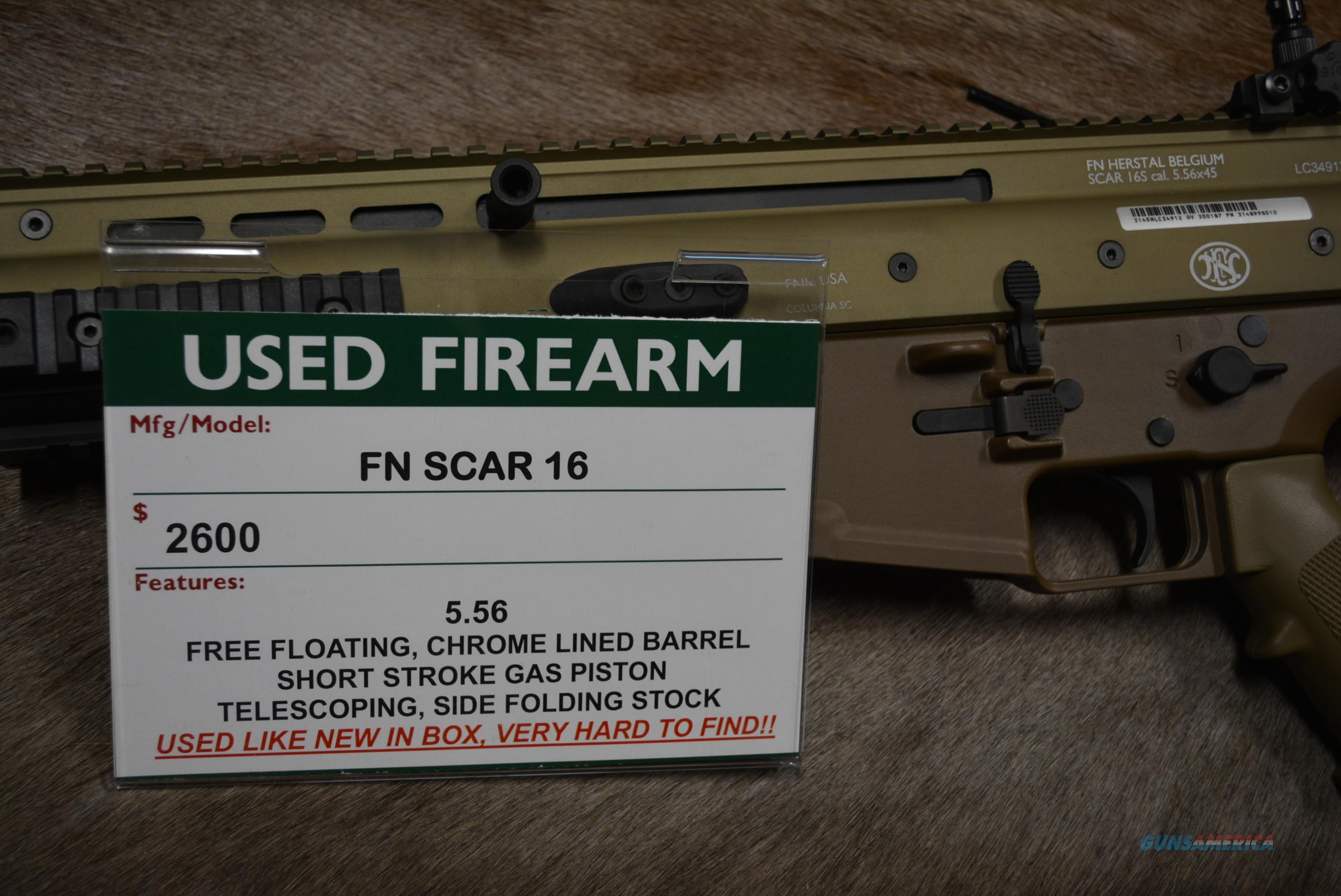 FN SCAR 16 LNIB  Guns > Rifles > FNH - Fabrique Nationale (FN) Rifles > Semi-auto > SCAR