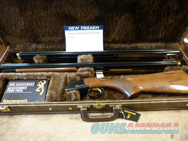 Browning Citori CXS 20/28 Ga Combo Set 2019 SHOT SHOW Gun  Guns > Shotguns > Browning Shotguns > Over Unders > Citori > Trap/Skeet